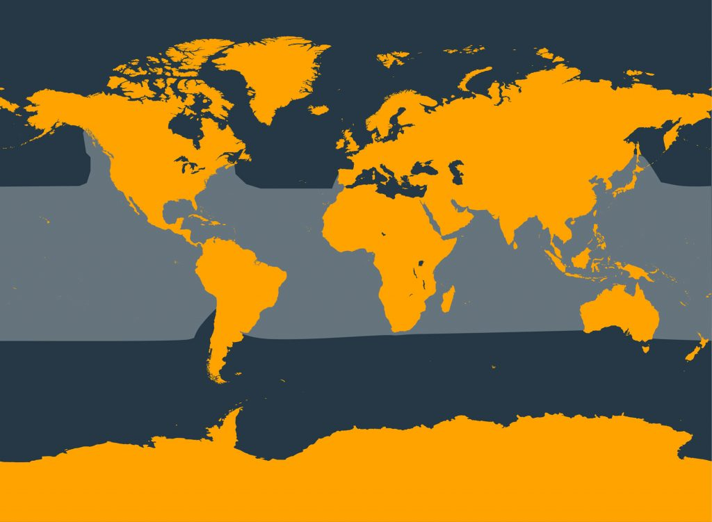 Short-finned pilot whale distribution map